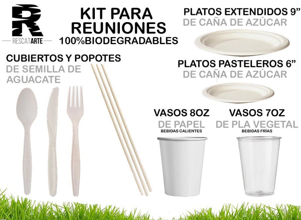 Kit Completo para Reuniones (100% Biodegradables)