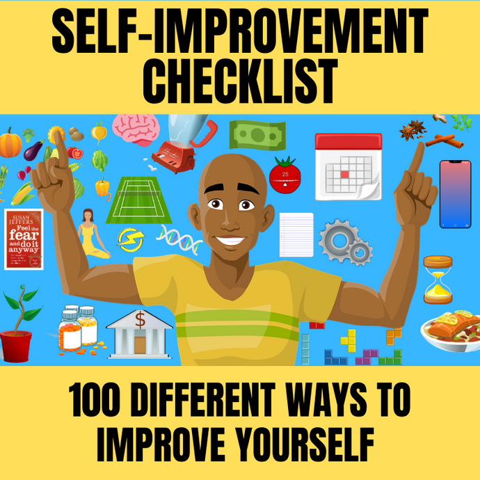 100 ways to improve your life | checklist