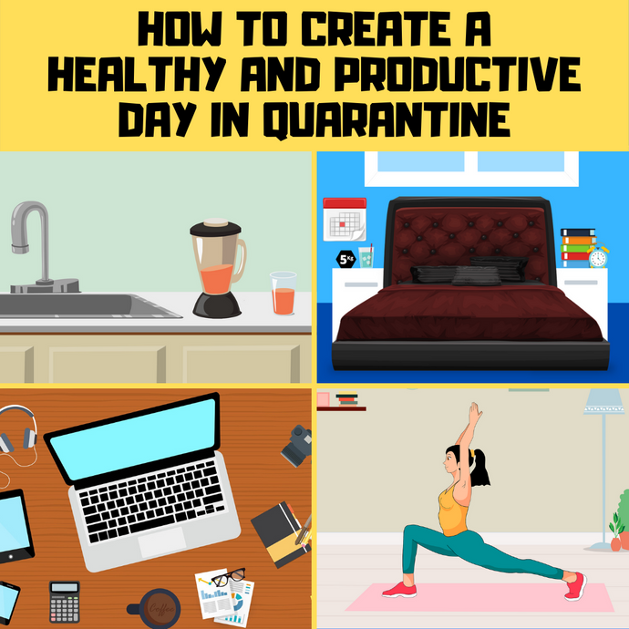 How to have a productive day in quarantine | 20 tips for work & health