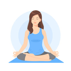 Meditating woman vector