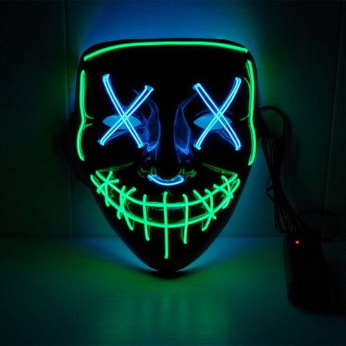 The Power Mask - Multicolored (Green and Blue)