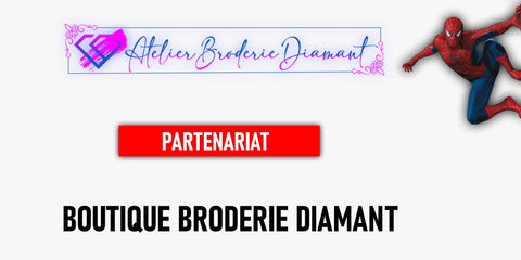 Partenariat Broderie Diamant Spiderman