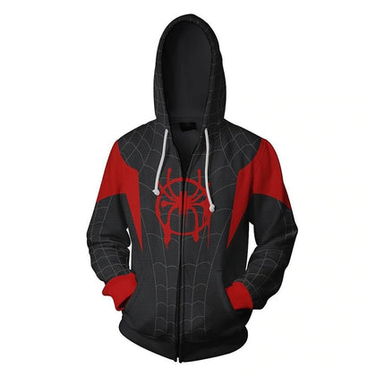 sweat de spiderman new generation noir et rouge