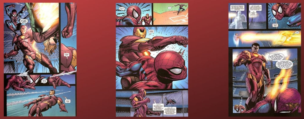 spiderman vs ironman en comics