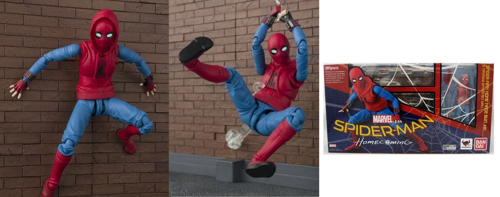 figurine spiderman homecoming monte les murs