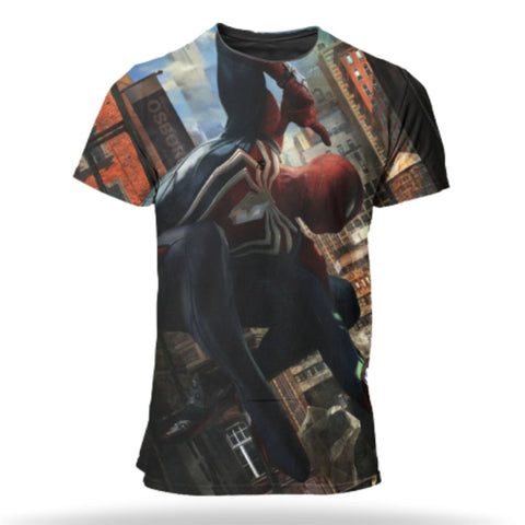 t shirt de spiderman jeu ps4