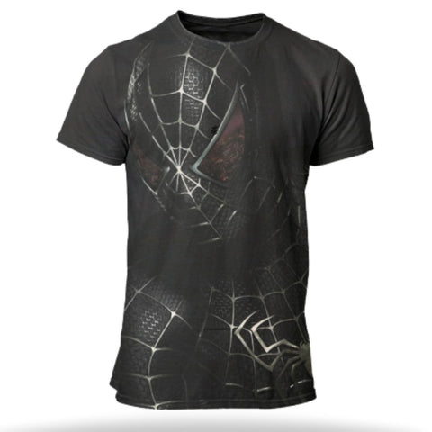 t shirt spiderman noir