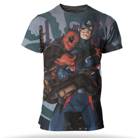 T Shirt SpiderMan <br> Captain America Deadpool
