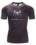 T Shirt Compression <br> Spiderman Néon