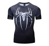 T Shirt Compression <br> Spiderman Musculation