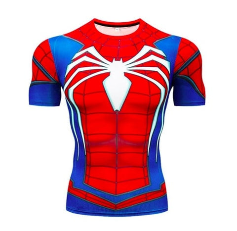 t shirt de musculation de spiderman ps4
