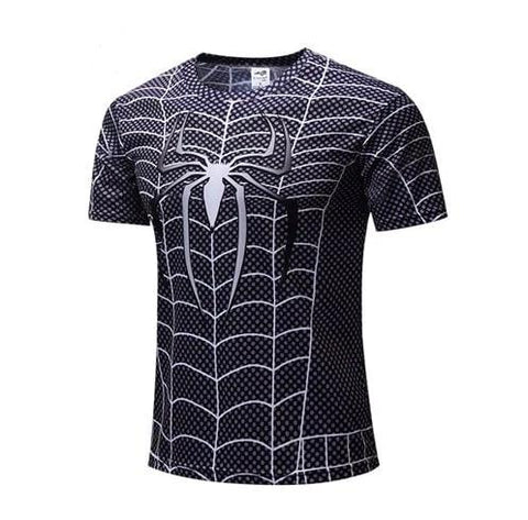 T Shirt Compression <br> Spiderman Gris