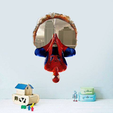 Sticker Spiderman Pendu