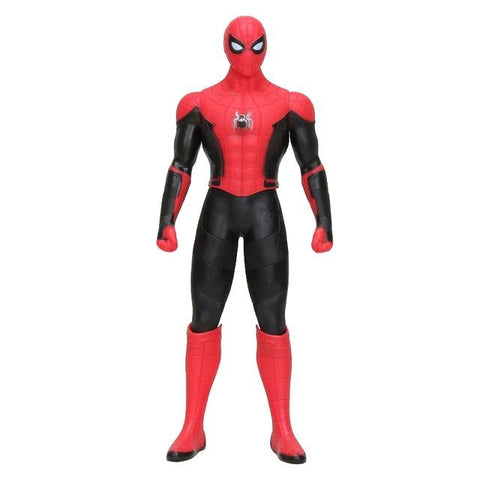 figurine debout de spider man far from home rouge et noir