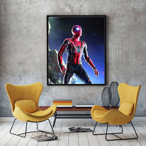 poster de spiderman infinity war rouge et noir