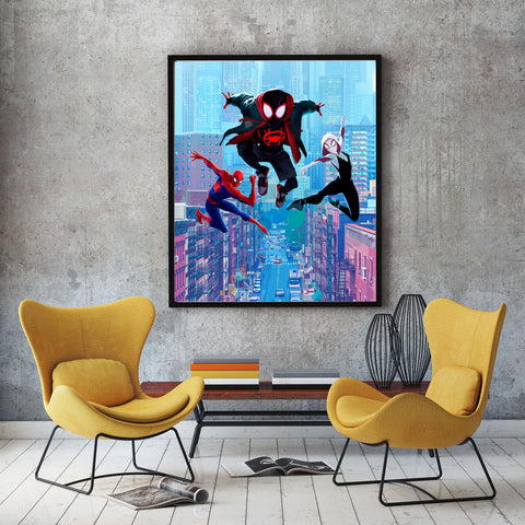 poster de spiderman into the spider verse
