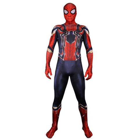 Costume SpiderMan Iron Spider porté debout