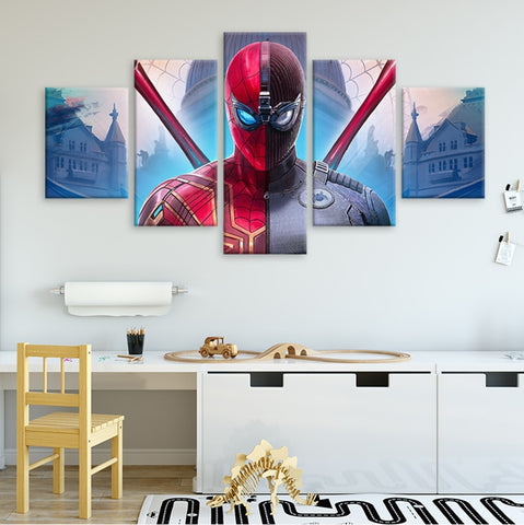 tableau de spiderman iron spider noir far from home
