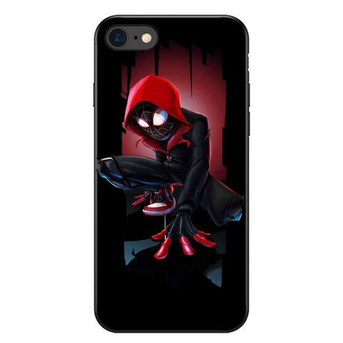 photo vue de face de la coque iphone spiderman bd