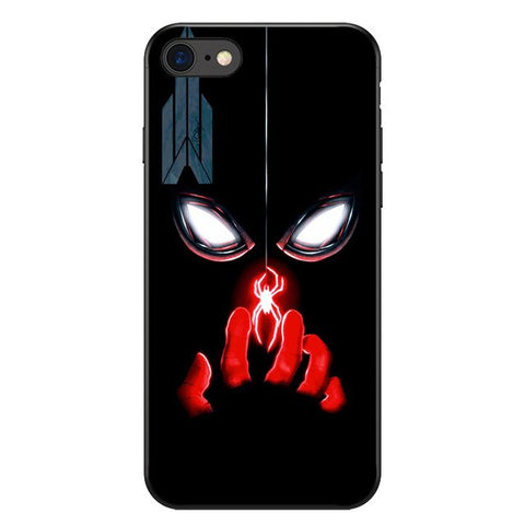 photo vue de face coque iphone spiderman puissance