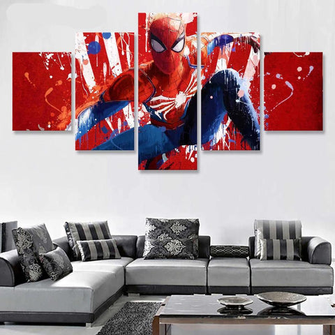Tableau SpiderMan <br> Accroupi