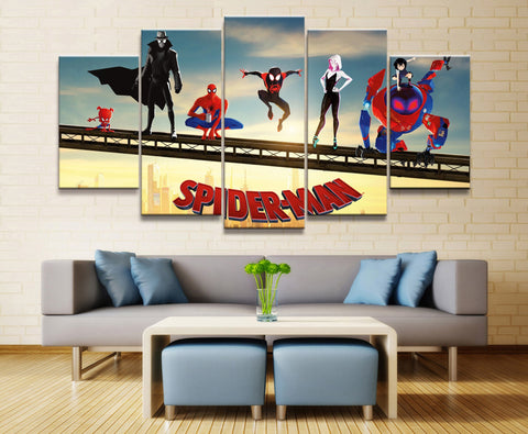 tableau de spiderman into the spiderverse