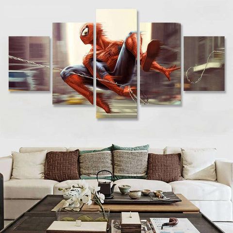 tableau de spiderman acrobatique