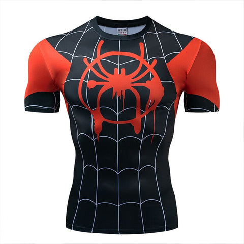 T shirt Compression Spiderman Peter Parker