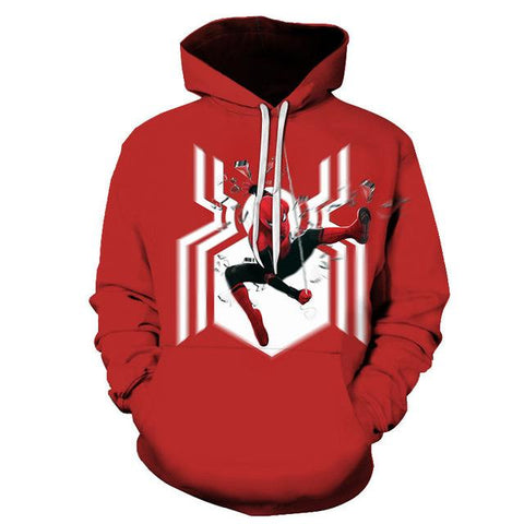 sweat de spiderman rouge et blanc