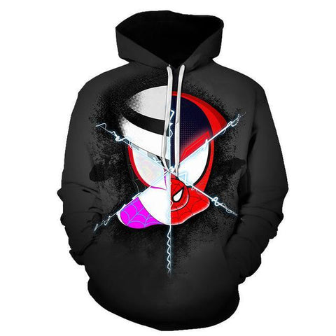 sweat de spiderman into the spider verse