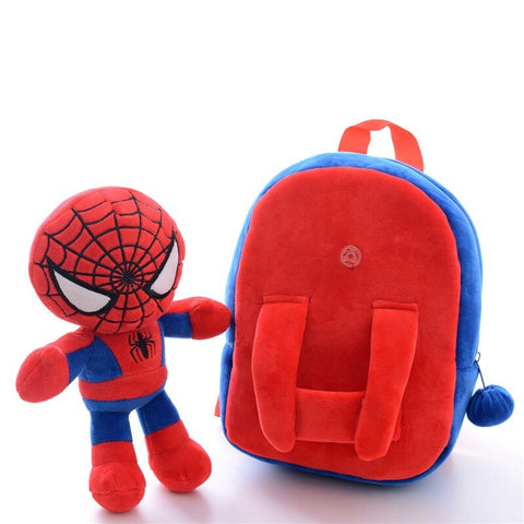 photo de face d'un cartable spiderman pour bébé