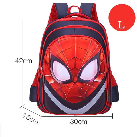 grand cartable spiderman rouge