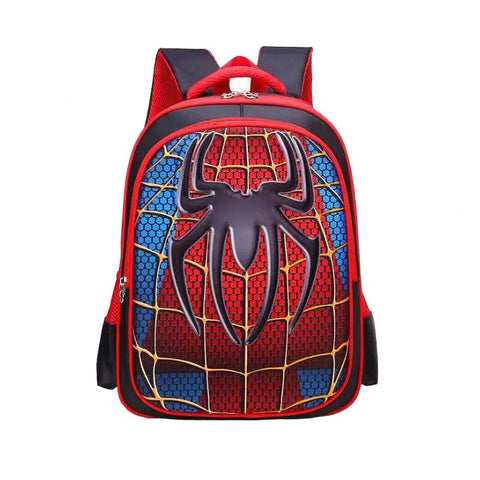 photo de face d'un joli cartable de spiderman 2