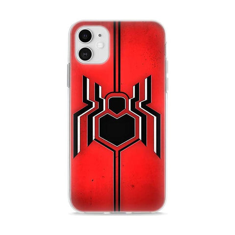 photo vue de face de la coque iphone spiderman araignée homecoming