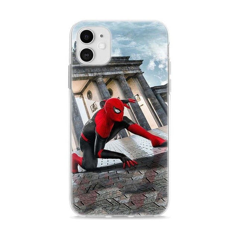 photo vue de face de la coque iphone spiderman venise