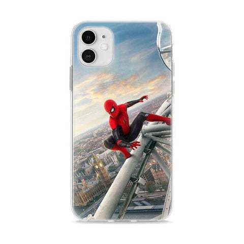 photo vue de face de la coque iphone spiderman bigben