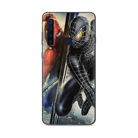 photo vue de face la coque samsung samsung spiderman noir vs rouge