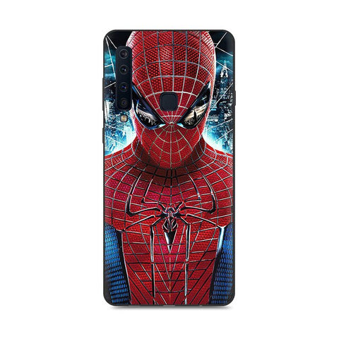 photo vue de face de la coque samsung spiderman amazing