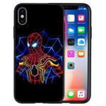 Coque Iphone Spider Man réflechissante néon