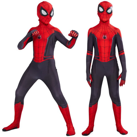 costume spiderman spidy porté par un enfant