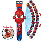 Montre Spiderman rouge projecteur