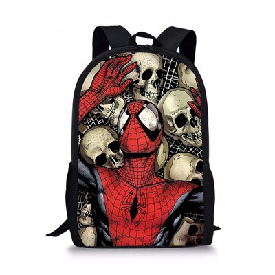 Sac à dos Spiderman Tete de mort