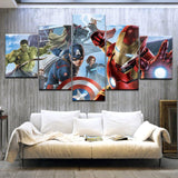 tableau de spiderman hulk et captain america