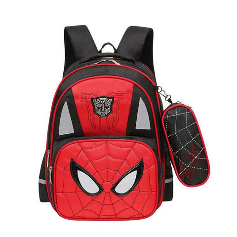 cartable de spiderman noir et rouge