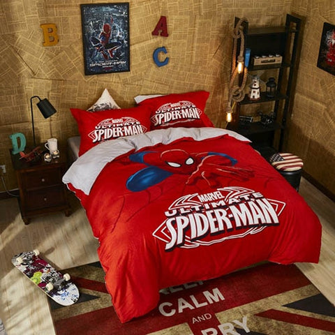 housse de couette rouge ultimate spiderman