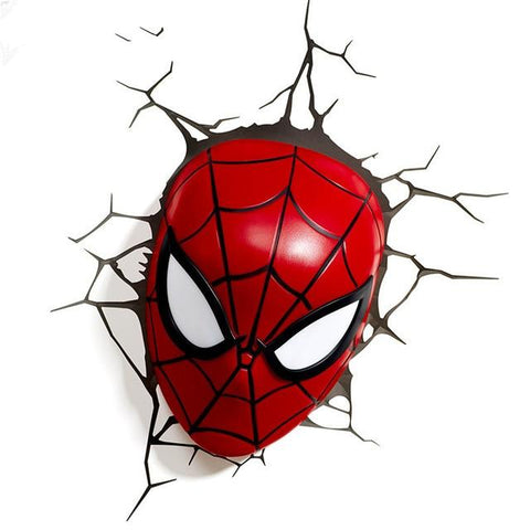 lampe murale spiderman masque rouge