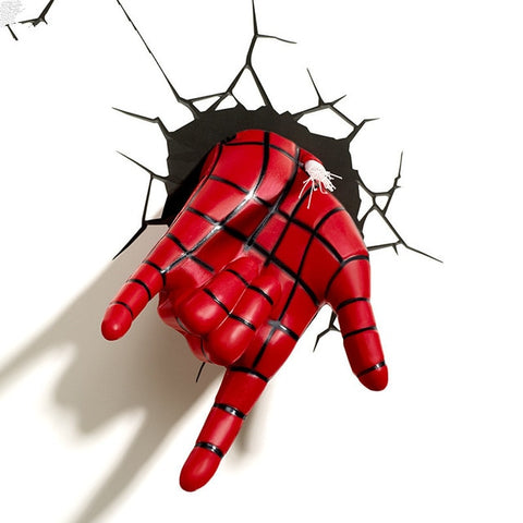 Lampe Murale 3D <br> Main SpiderMan