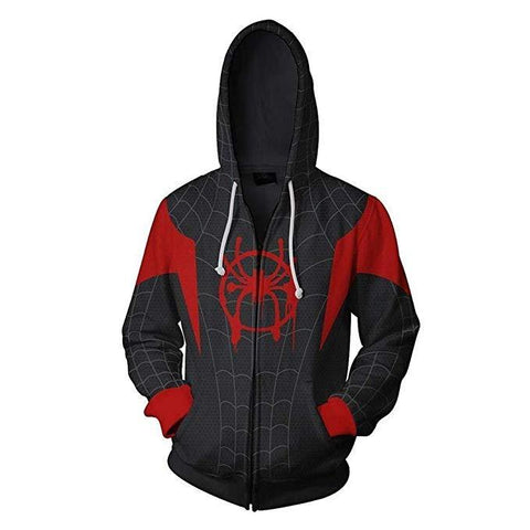 sweat spiderman new generation noir et rouge