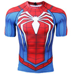 t shirt de musculation compression spiderman ps4