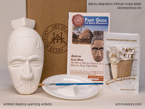 Paint Your Own African Mask Replica